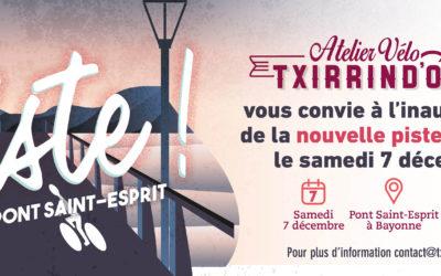 Txirrind'Ola inaugure la piste cyclable du pont Saint-Esprit le 07 décembre